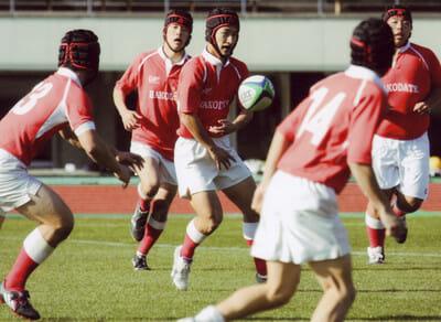 Nitadori playing rugby
