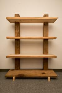 Self making shelf